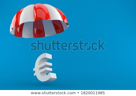 Stock photo: euro parachute