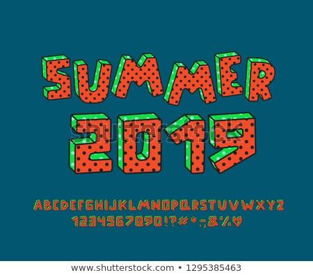 awesome 3d alphabet vector clip art stock photo © damonshuck