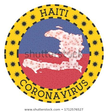 Haïti Geel witte straat teken Stockfoto © hlehnerer