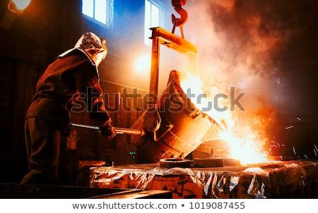 Aço moinho fogo luz indústria industrial Foto stock © phbcz