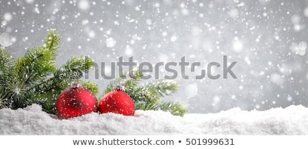 fiocco · di · neve · confine · Natale · bianco · gingillo · decorazioni - foto d'archivio © anna_om