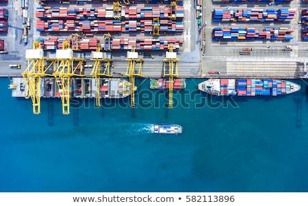 Cargo ship docked in port Stock photo © homydesign