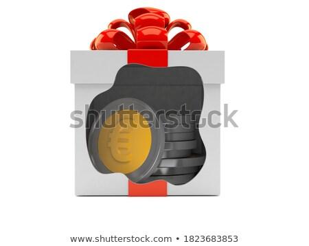 Caixa de presente euro símbolo dentro dourado Foto stock © Pixelchaos