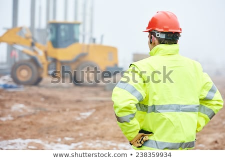 mature surveyor in construction site Stock photo © photography33