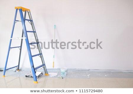 üres · befejezetlen · szoba · újonnan · festett · új - stock fotó © elly_l