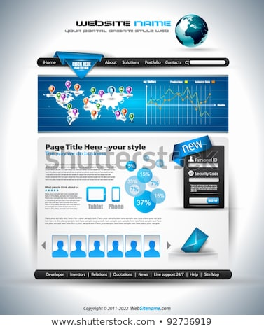 Complex website sjabloon elegante ontwerp business Stockfoto © DavidArts