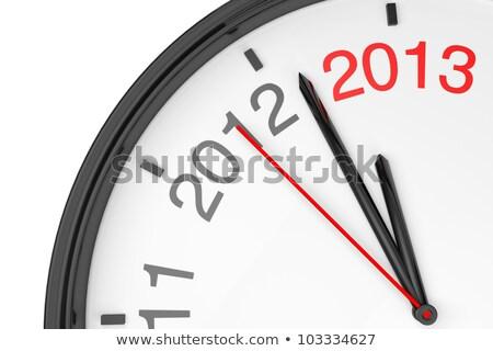 Zegar w dół 2012 nowy rok ręce Zdjęcia stock © iqoncept