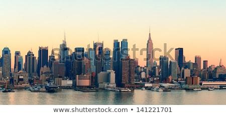 Manhattan New York New Jersey ABD Bina şehir Stok fotoğraf © phbcz
