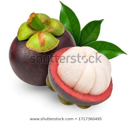 Мангостин свежие белый здоровья тропические Purple Сток-фото © joker