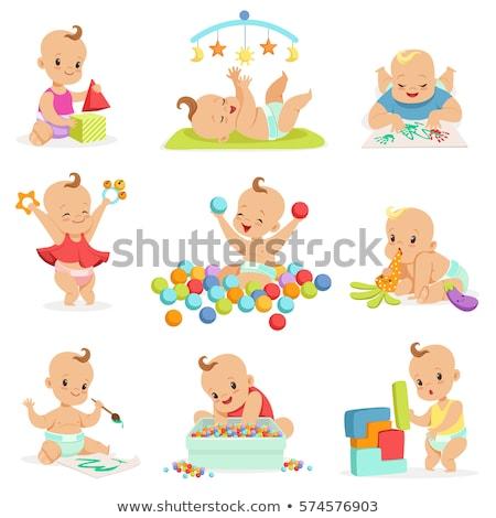 Playing Baby Vector stock photo © indiwarm