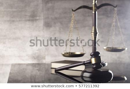 droit · justice · femme · fond · chaîne · silhouette - photo stock © BrunoWeltmann