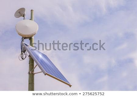 torony · napelem · nap · absztrakt · technológia · kék - stock fotó © ildi