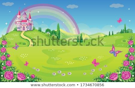 cute fairytale landscape vector illustration Stock photo © Lemuana