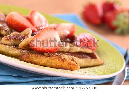 Fraîches fraises de pomme de terre sud Allemagne Photo stock © ildi