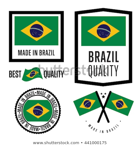 vector label Made in Brazil stock photo © perysty