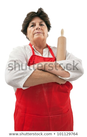 disappointed grandmother with rolling pin stock photo © sumners