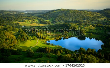 Tramonto lake district sole panorama montagna bella Foto d'archivio © backyardproductions