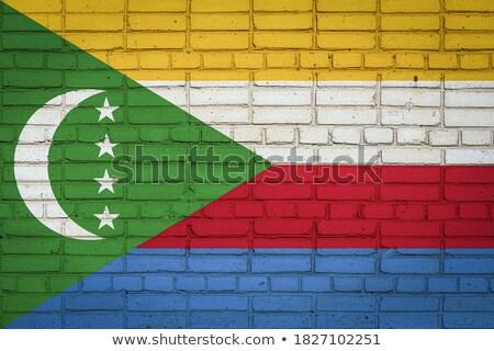 grunge · Comore-szigetek · zászló · vidék · hivatalos · színek - stock fotó © creisinger