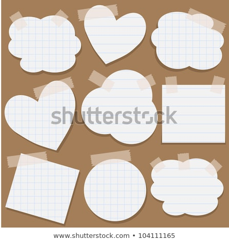 Paper tape love tag Stock photo © nicemonkey