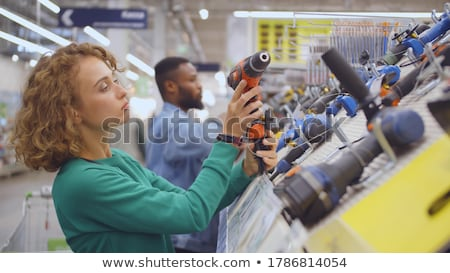 Pretty girl with screwdriver Stock photo © photography33