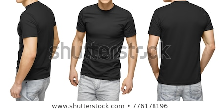 t-shirt back isolated on white background stock photo © ozaiachin