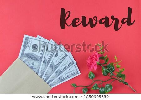 bonus · geschreven · bankbiljetten · witte · business · ontwerp - stockfoto © pterwort