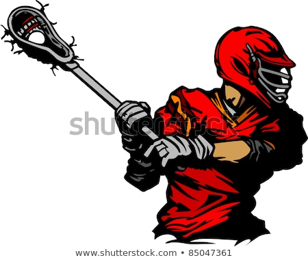 Lacrosse Player Cradling Ball Illustration Foto stock © ChromaCo