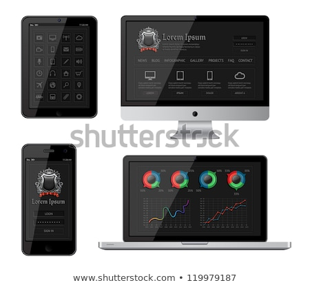 isolated gadgets with infographics and web elements eps10 vector illustration stock photo © absenta
