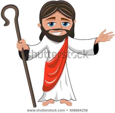 Cartoon министр дружественный волны привет человека Сток-фото © blamb
