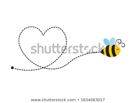 蜂 飛行 画像 自然 葉 緑 ストックフォト © Kirschner