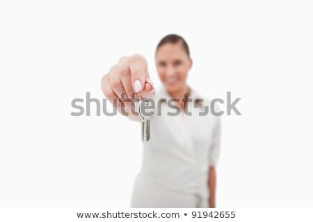 ключами · служба · улыбаясь · женщины - Сток-фото © wavebreak_media