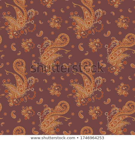 Colourful seamless Indian paisley pattern stock photo © juliakuz