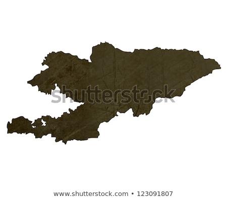 Donkere kaart Kirgizië geïsoleerd witte Stockfoto © speedfighter