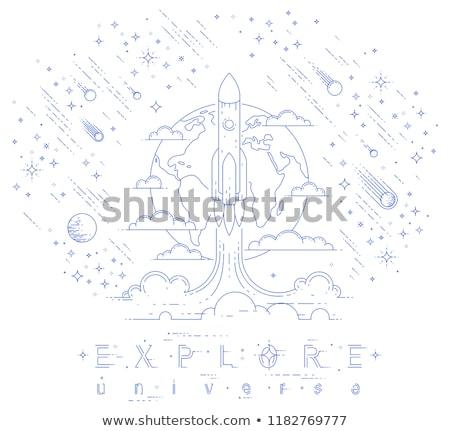 Pluie lumière espace science noir objet Photo stock © aetb