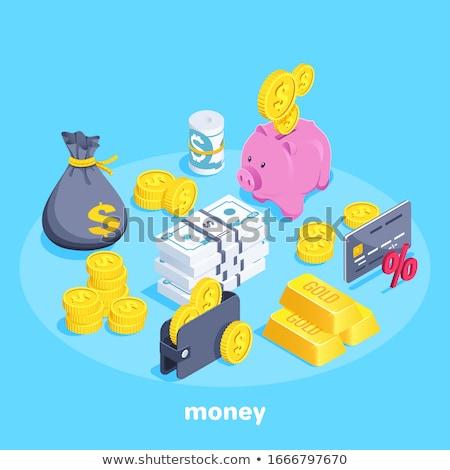 piggy · bank · vetor · imagem · desenho · animado · negócio - foto stock © perysty