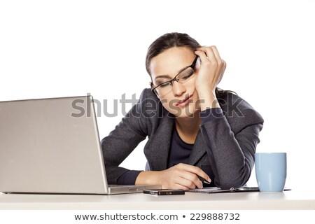 Empresária secretária branco mulher trabalhar Foto stock © wavebreak_media