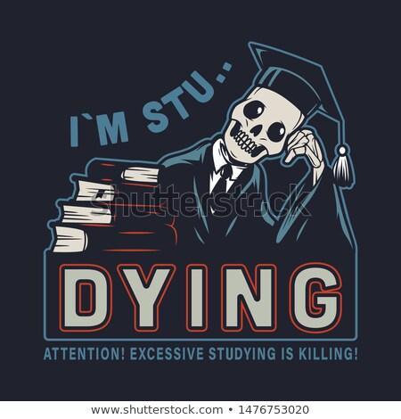 Skeleton Graduate Stock photo © AlienCat