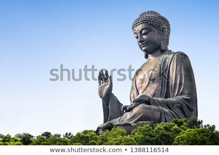 grande · monge · bronze · estátua · buda · templo - foto stock © witthaya