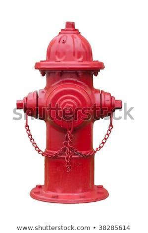 Kırmızı yangın görüntü güvenlik beyaz güvenli Stok fotoğraf © pongam
