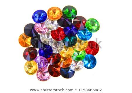 Stok fotoğraf: Renkli · mücevher · yalıtılmış · açık · mavi · ayarlamak · doku