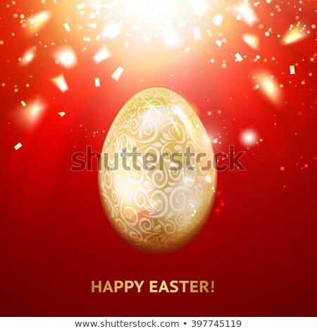 Brilhante ovo dourado texto 3D Foto stock © marinini