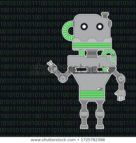 Robot Welcomes You Stock photo © AlienCat