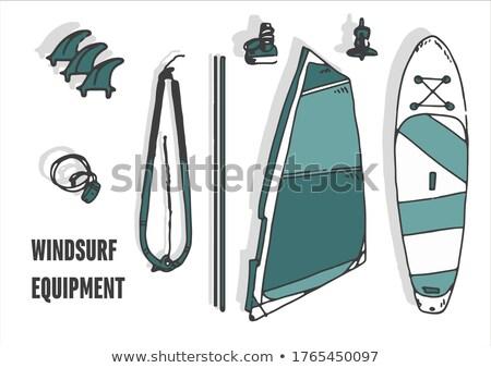 Windsurfer board straps Stock photo © Forgiss