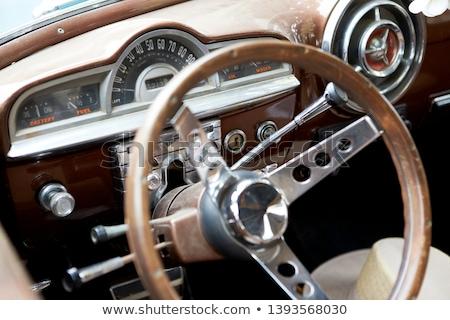 Régi autó kerék műszerfal technológia autók belső Stock fotó © goce