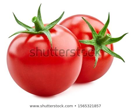 Fresh raw tomatoes isolated on white Stock photo © monticelllo