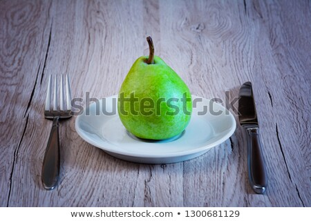 pereira · mesa · de · madeira · comida · madeira · fruto · doce - foto stock © dbvirago