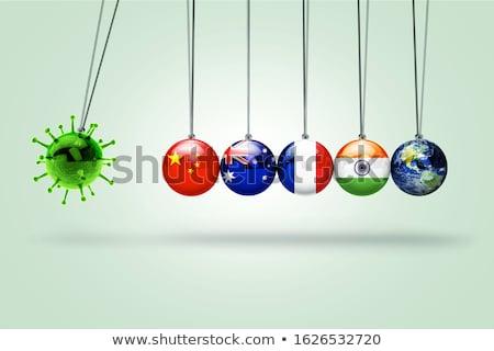 Global virüs dünya enfeksiyon sağlık simge Stok fotoğraf © Lightsource