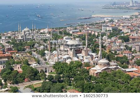 mavi · cami · panorama · İstanbul · Türkiye · panoramik - stok fotoğraf © bertl123