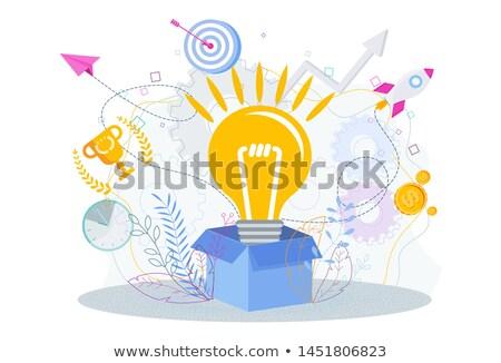 dom · bulbo · caixa · branco · escolas - foto stock © 4designersart