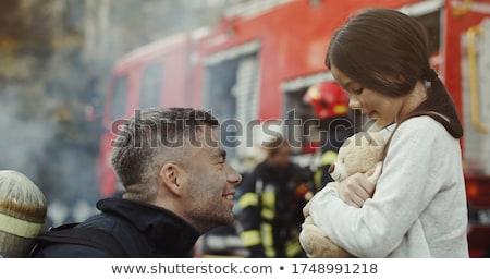 消防 救助 子 燃焼 家 火災 ストックフォト © cteconsulting
